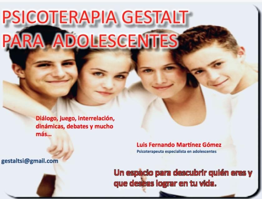 terapia para adolescentes con enfoque Gestalt