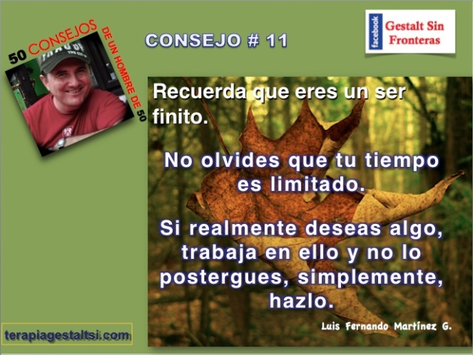 Consejo 11 no postergues