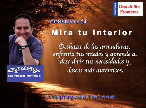 Consejo 24 mira tu interior