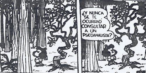 Mafalda recomienda a un árbol un psico