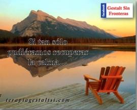 Recuperar la calma